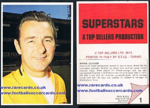 1975 STIG Superstars Brian Clough NF